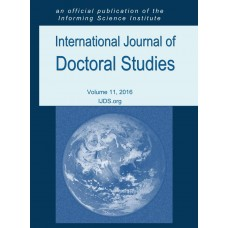 2016 Vol. 11 International Journal of Doctoral Studies