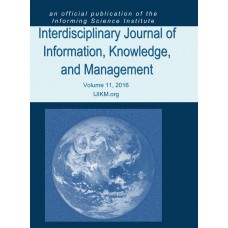 2016 Vol. 11 Interdisciplinary Journal of Information, Knowledge, and Management