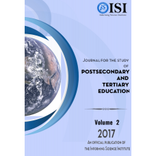 2017 Vol. 2 Journal for the Study of Postsecondary and Tertiary Education