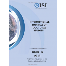 2018 Vol. 13 International Journal of Doctoral Studies