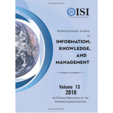2018 Vol. 13 Interdisciplinary Journal of Information, Knowledge, and Management
