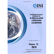 2019 Vol. 15 Interdisciplinary Journal of e-Skills and Lifelong Learning