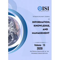 2020 Vol. 15 Interdisciplinary Journal of Information, Knowledge, and Management