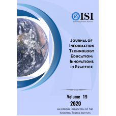 2020 Vol. 19  Journal of Information Technology Education: Innovation in Practice