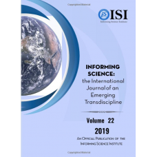 2019 Vol. 22 Informing Science: the International Journal of an Emerging Transdiscipline