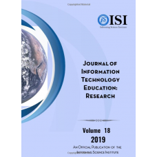 2019 Vol. 18 Journal of Information Technology Education: Research